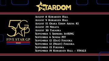 STARDOM 5 Star Grand Prix 2020 begins 08.08.20