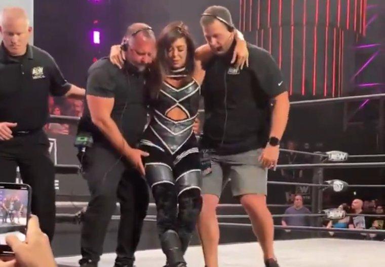 Rebel injured during tag team match on Dynamite