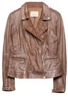 Jacheta din piele maro
