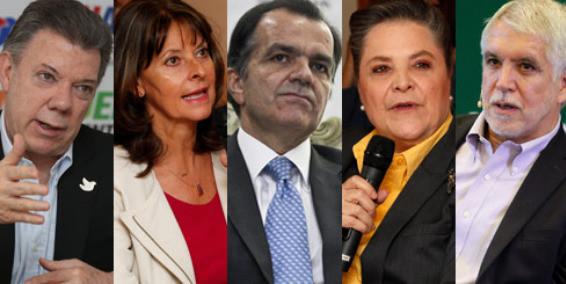 Las familias de los candidatos a la presidencia de Colombia