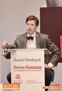 Daniel Raisbeck sustentando sus ideas