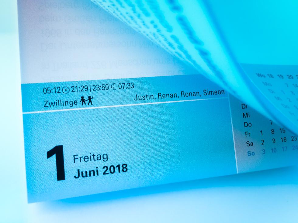 Heute ist Freitag, der 1. Juni 2018!