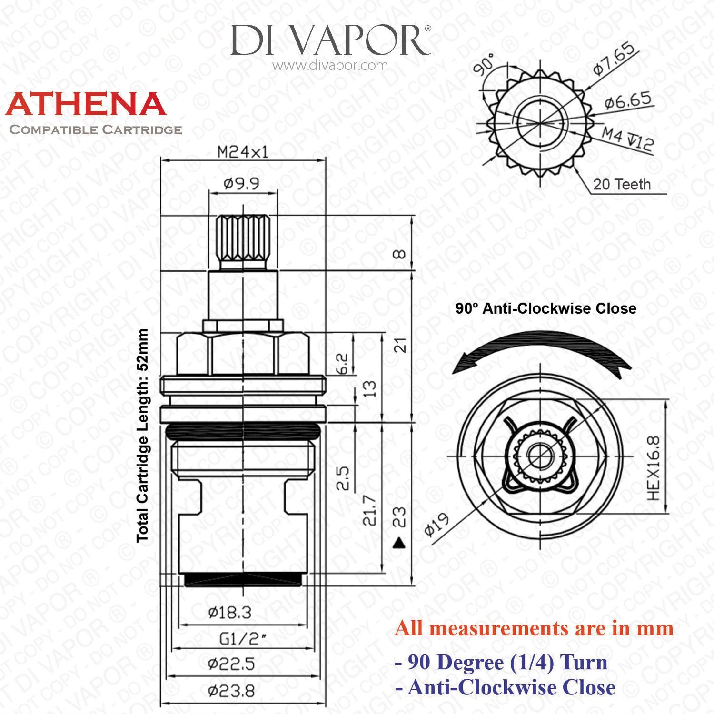 Franke Athena R H Tap Valve Cartridge 133 960