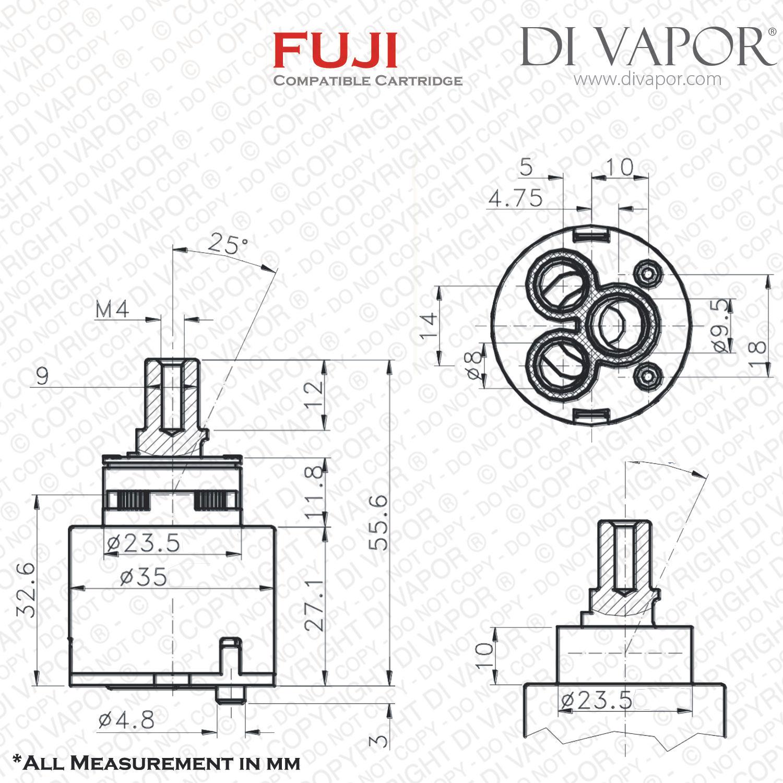 Franke Fuji Sp 35mm Single Lever Kitchen Tap Cartridge