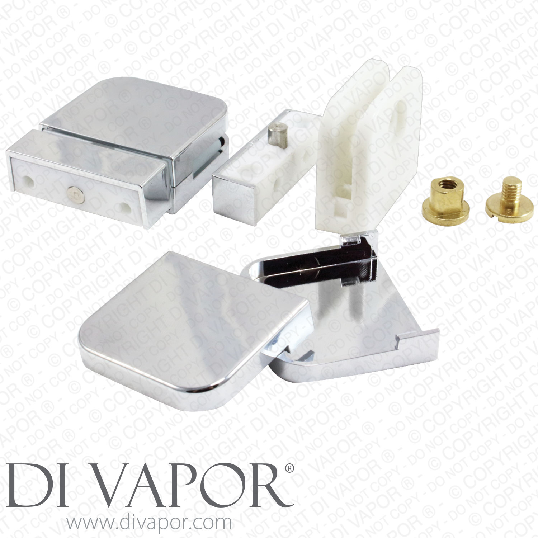Plastic Glass Shower Door Pivot Hinge For 6mm Glass Clamp