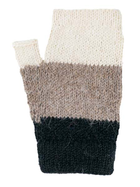 Multithree Arm Warmer, Ash, 100% Alpaca, winter wrist warmers for the whole family