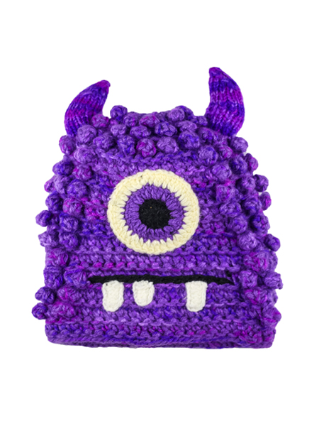 Kids Bally Monster Hat Purple