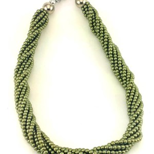 Twisted Beaded Necklace 2 pc set