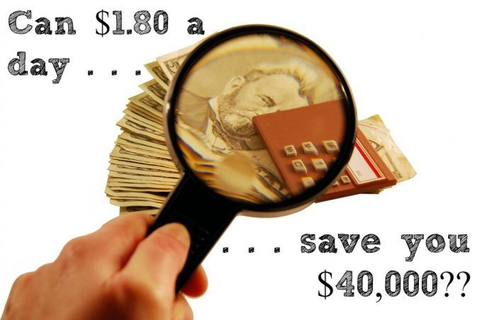 Can saving $1.80 a day save you $40,000? See how simple little savings add up to big life changes.