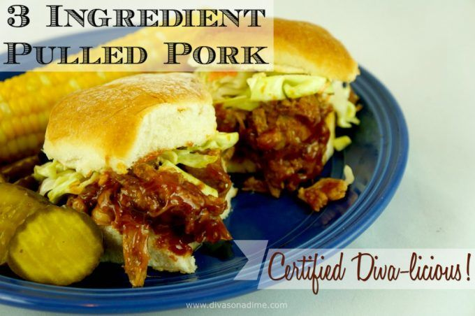 The easiest pulled pork recipe with only 3 ingredients! Makes melt-in-your-mouth tender, flavorful and juicy pork perfect for pulled pork sandwiches.
