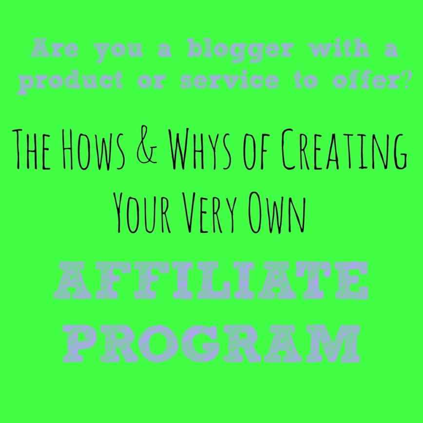 Creating your own affiliate program