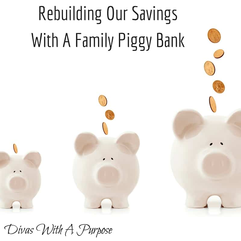 Rebuilding Our Savings With A Family Piggy Bank