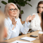 women discussing retirement planning financial questions