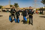 Family going for diving aqaba red sea