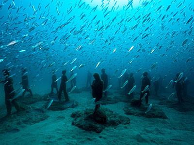 Sculptures sous marins, Dive College Lanzarote, Playa Blanca, plongée