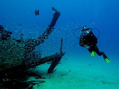 L'épave, plongée, Dive College Lanzarote, Playa Blanca