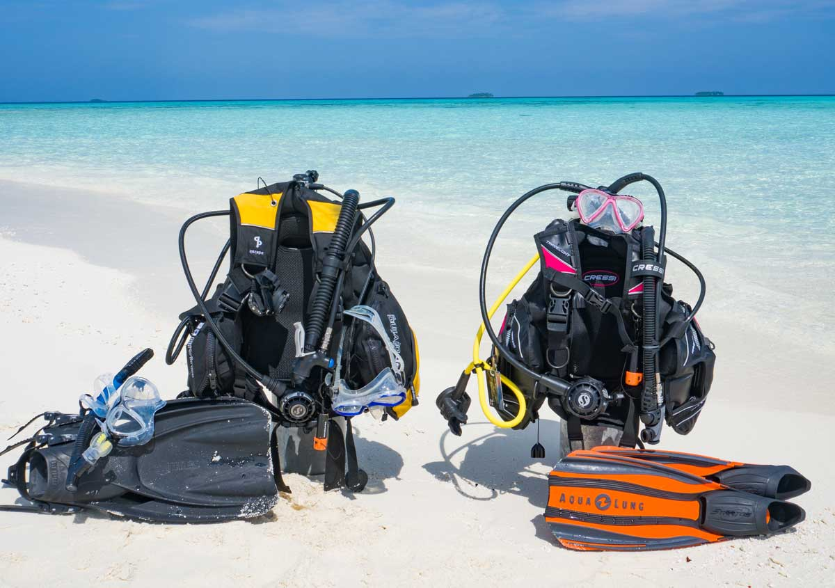 Scuba Diving Gear And Photo Equipment