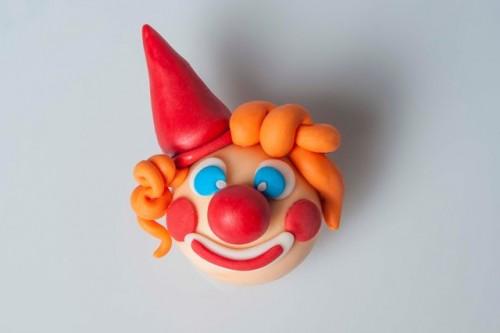 biscotti frolla decorati clown 4