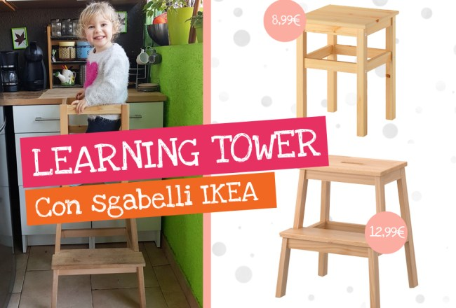 Come creare una learning tower con sgabelli ikea