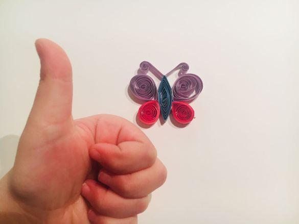 Quilling per i bambini: la farfalla di Primavera!