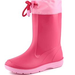 stivali pioggia rosa