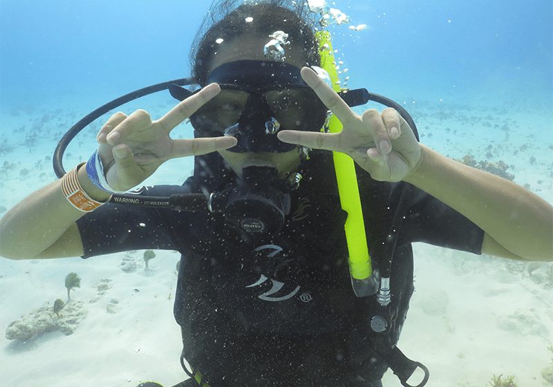 scuba dive in cancun