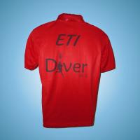 חולצה DRY FIT בצבע אדום עתיק