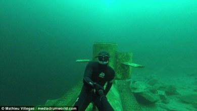 צלילה חופשית מתחת לקרח