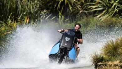 אופנוע אמפיבי - אב טיפוס של חברת Gibbs