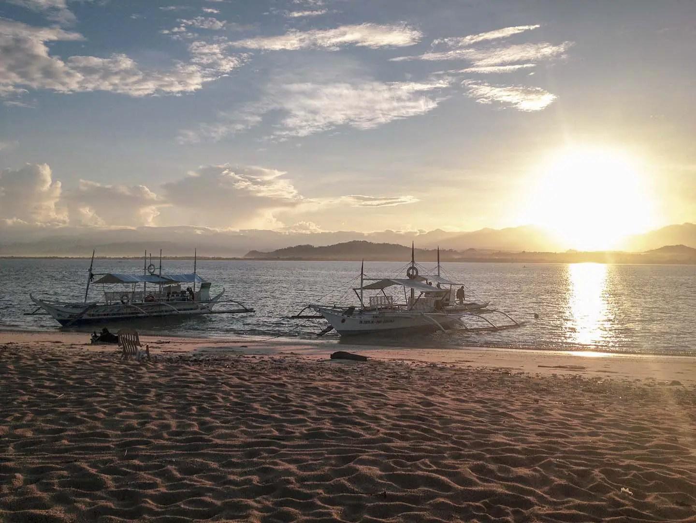 Sunrise in Pandan Island