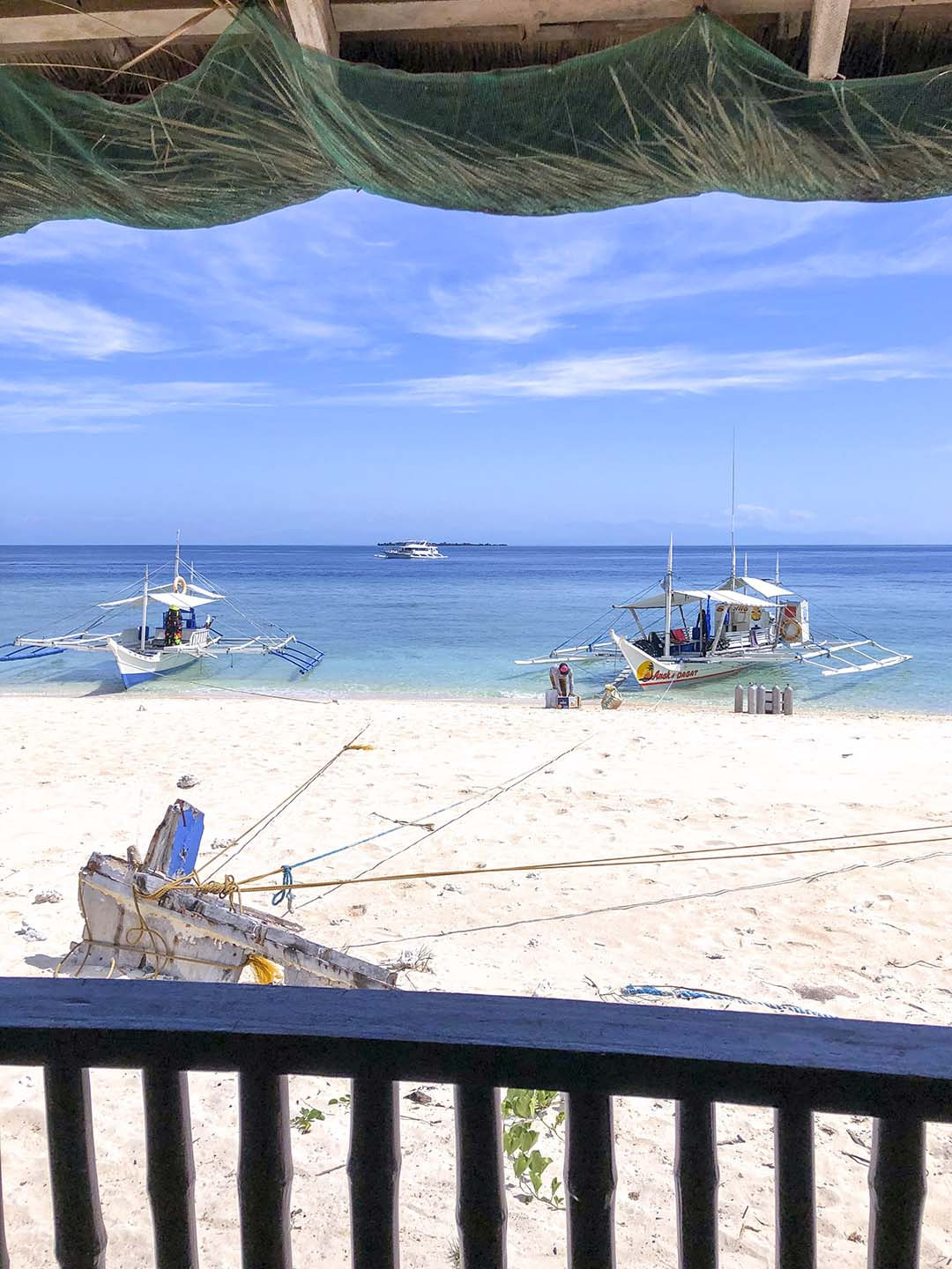 The view from my room in Apo Island