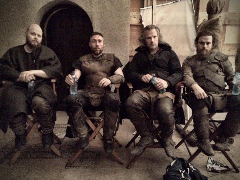 Ørjan Gamst, Stig Frode Henriksen, André Eriksen og Elijah Ungvary fra settet under innspillingen av Dragon Heart 4.