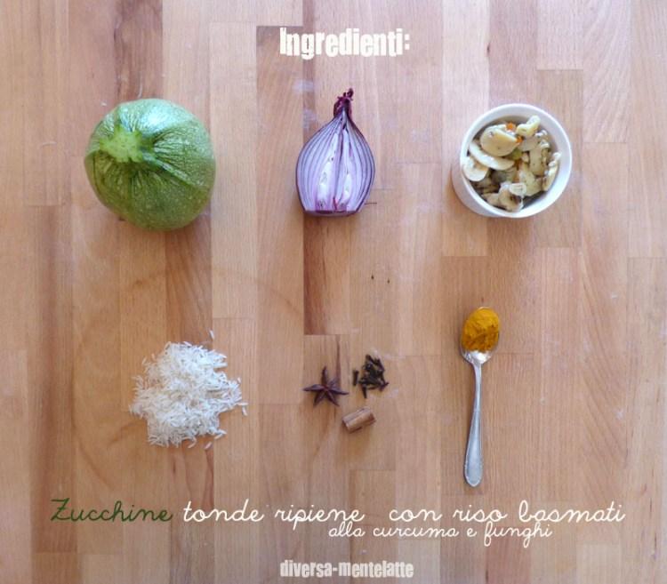 Ingredienti zucchine tonde ripiene