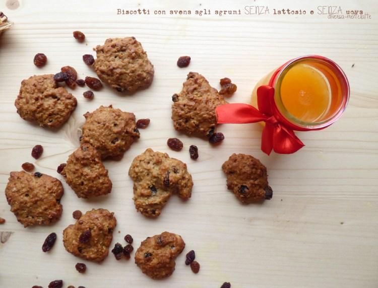 biscotti con avena senza lattosio