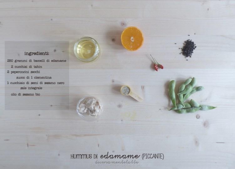 ingredient hummus di edamame piccante