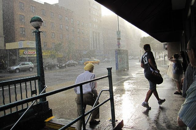 lluvia intensa en New York