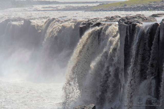 La cascada Selfoss en islandia