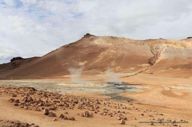El monte Námafjall y Hverir