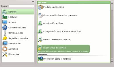 YaST de openSUSE