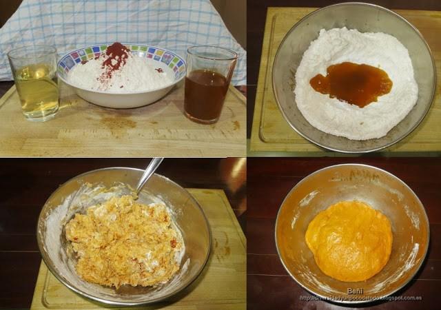 elaboracion de la masa para la empanada gallega