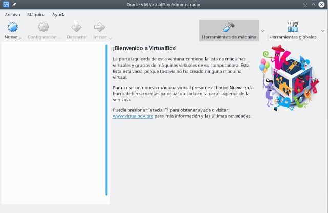 instalar gnu/linux con virtualbox, nueva