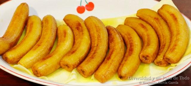 platanos fritos para el pabellon criollo