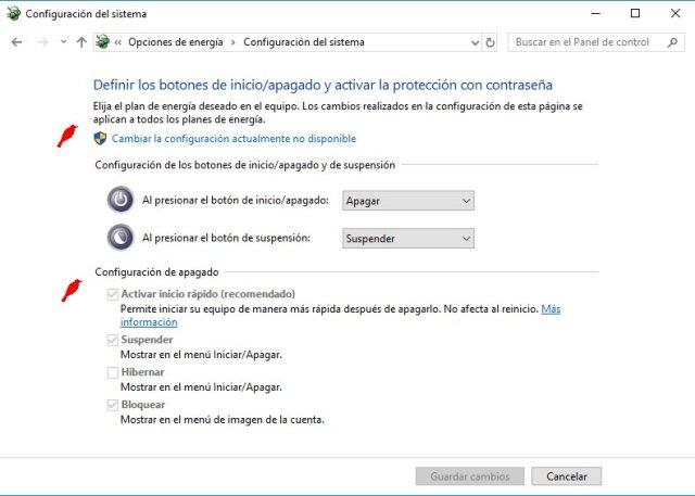 apagar completamente windows, configuracion de apagado