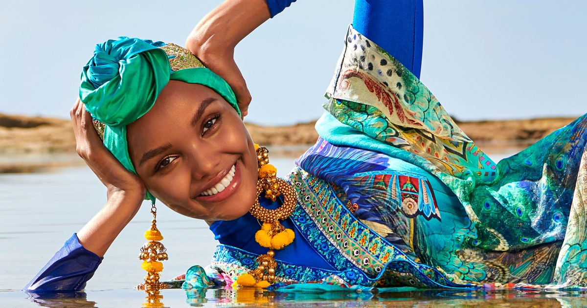 Halima Aden Makes History as Sports Illustrated First Muslim Model to Rock  a Hijab and Burkini - DiversityInc