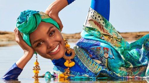 Halima Aden Muslim model hijab burkini Sports illustrated