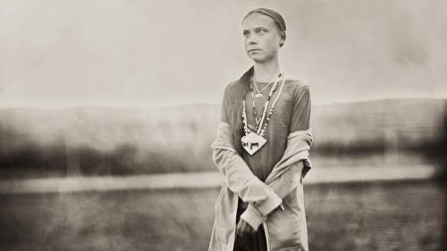 Greta Thunberg, photograph, library of congress, Shane Balkowitsch