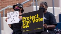 Georgia voter suppression protests