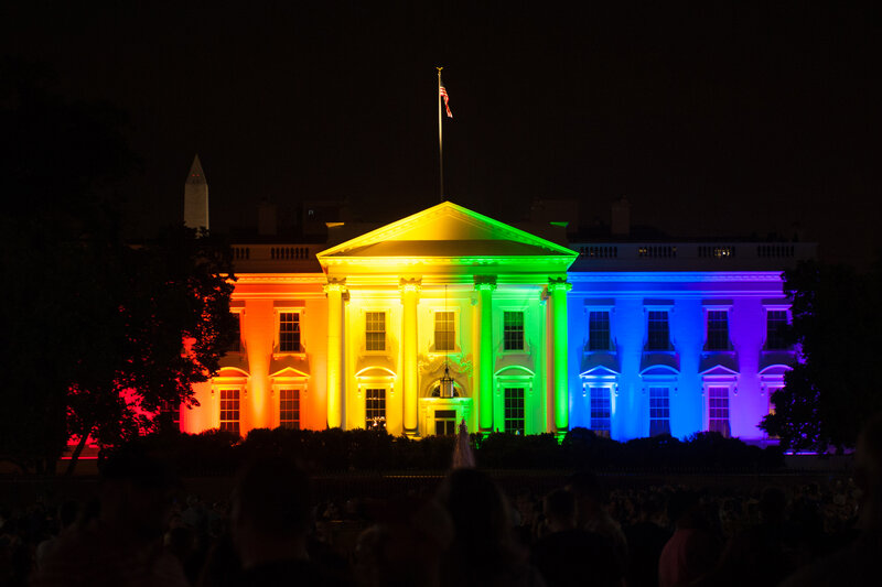 White House in LGBTQ colors