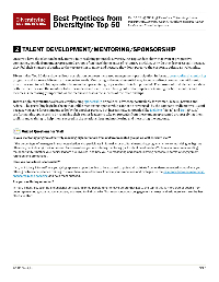 Talent Development - Mentoring - Sponsorship