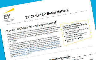 EY: Women on US Boards—What Are We Seeing?